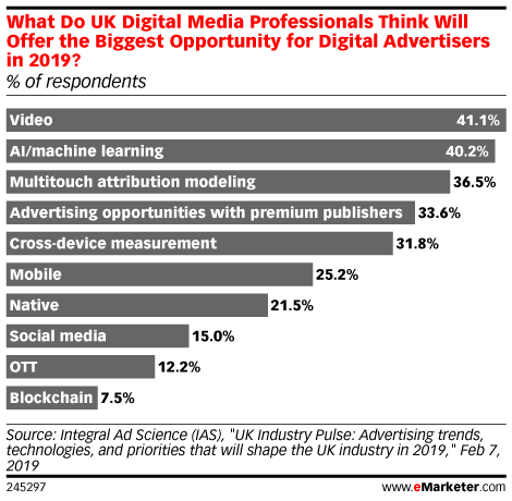 What Do UK Digital Media Professionals Think Will Offer the Biggest Opportunity for Digital Advertisers in 2019? (% of respondents)
