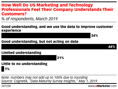 How Well Do US Marketing and Technology Professionals Feel Their Company Understands Their Customers? (% of respondents, March 2019)