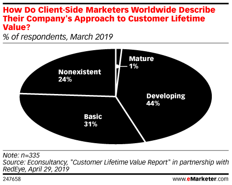 How Do Client-Side Marketers Worldwide Describe Their Company's Approach to Customer Lifetime Value? (% of respondents, March 2019)