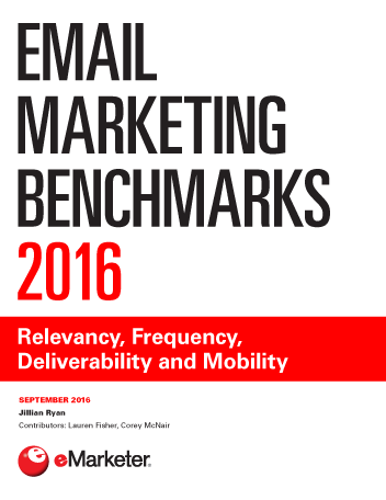 Email Marketing Benchmarks 2016