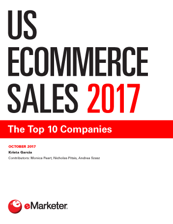 us e merce sales 2017 the top 10 companies   emarketer